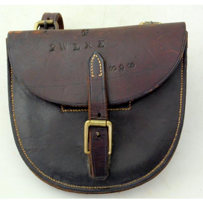 Antique Leather Pouch,made by Wilmot Bennett