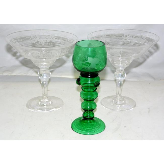 A Pair of Art Deco Stuart Crystal Bowls