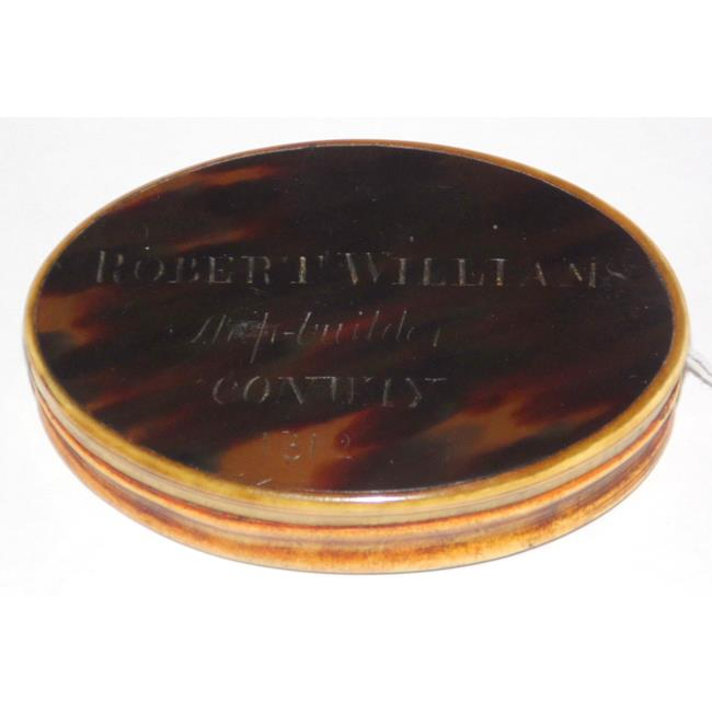 Antique Georgian Tortoiseshell and Horn Snuff Box