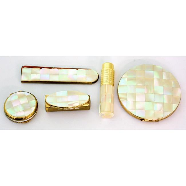 Vintage Stratton Mother of Pearl Make up Set