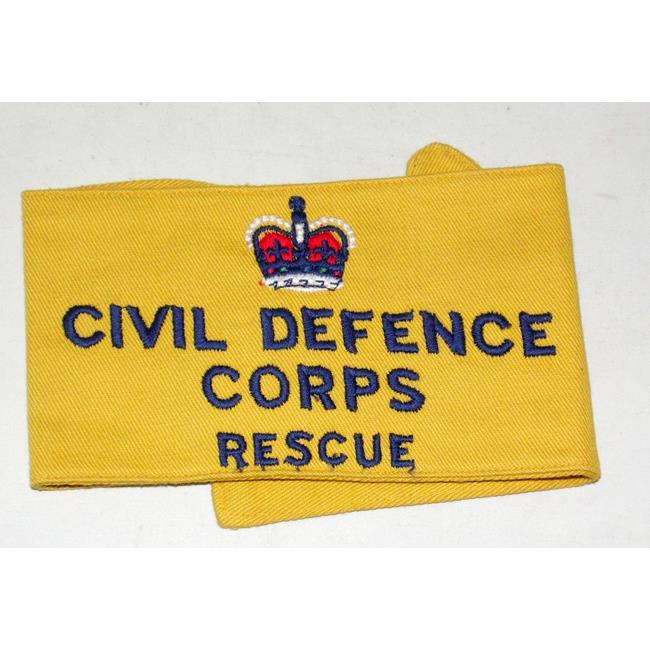 British Civil Defence Corps Rescue Armband.
