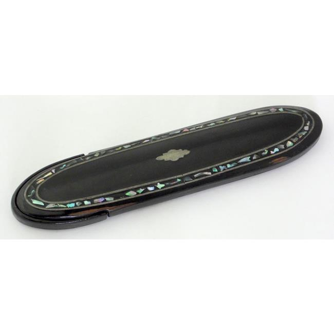 Victorian Papier Mache Eye Glass Spectacles Case