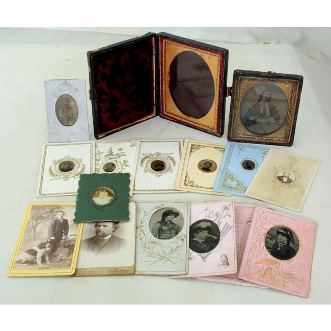 Cased Daguerreotype with Tinted  Bow