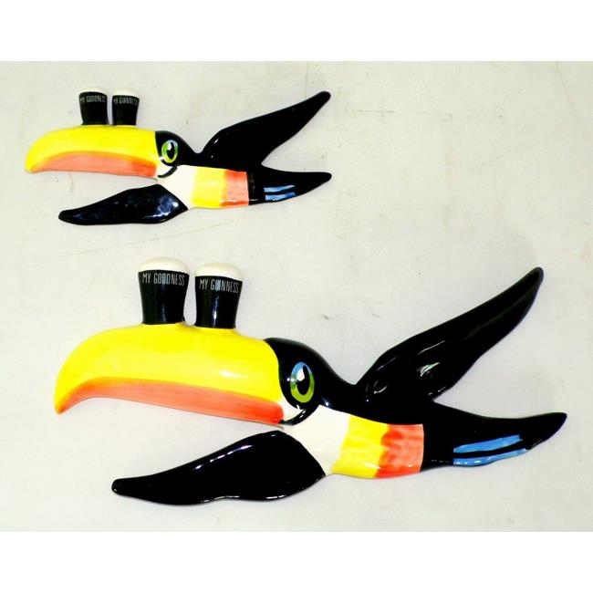 Guinness Hand Painted Toucans