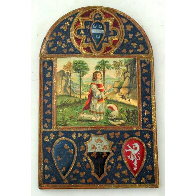 "Grand Tour Plaque of""Joan of Arc"". 18/19thc"