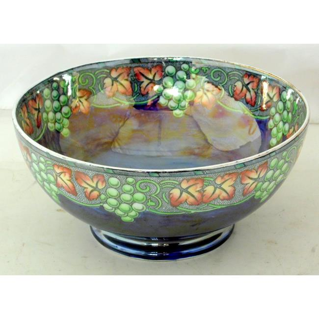 Large Maling Butterfly Lustre Ware Fruit Bowl