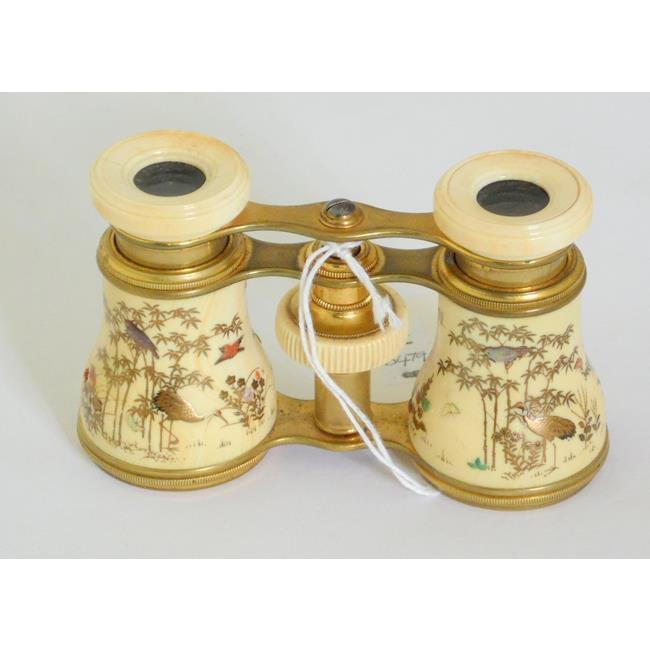 Antique Pair of Japanese Shibayama Opera Glasses