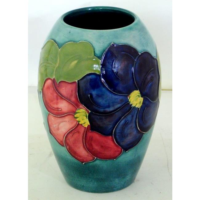 Moorcroft Ovoid Vase Decorated with Clematis