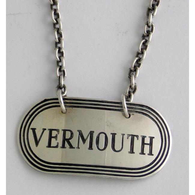 Sterling Silver 'Vermouth' Decanter Label