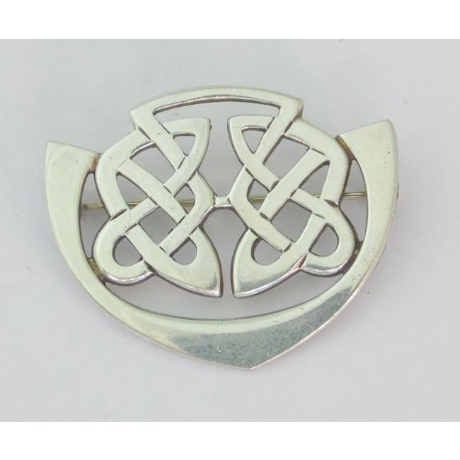 Sterling Silver Irish Celtic Knotwork Brooch