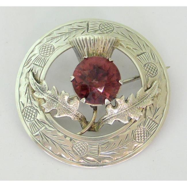 Silver Scottish Thistle Brooch  c.1949.