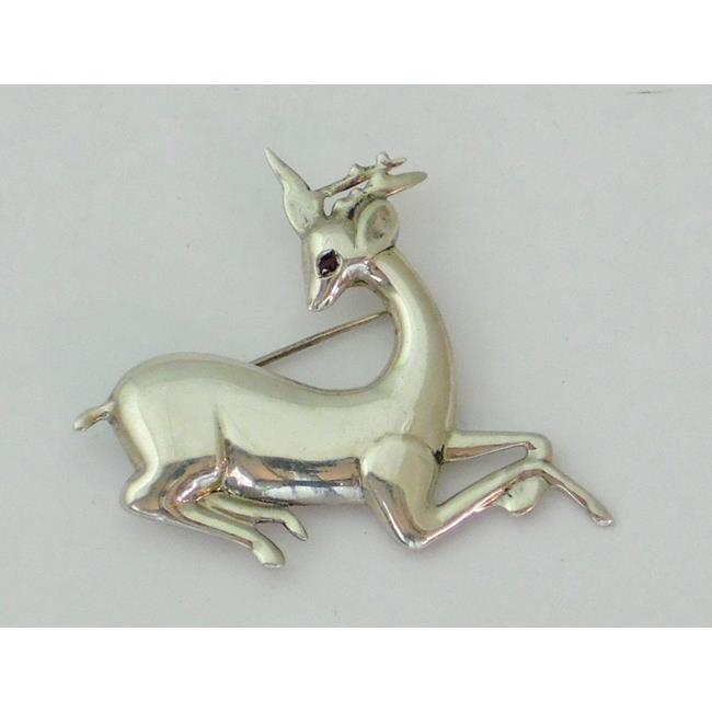 Sterling Silver Deer Brooch