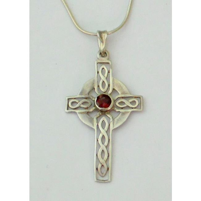 Sterling Silver Celtic Knotwork Cross Pendant
