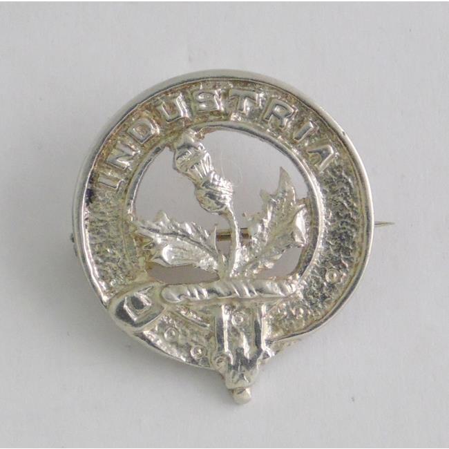 Sterling Silver Scottish Clan Brooch 'Industria'