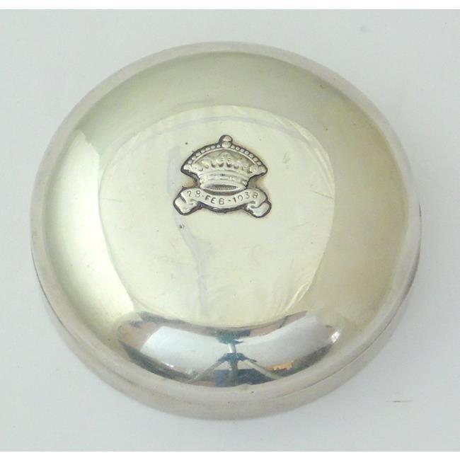 Silver Circular Powder Box