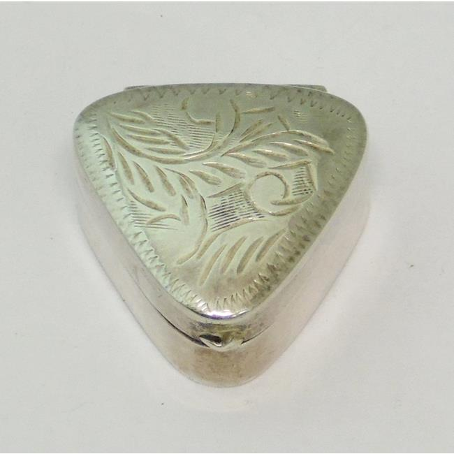 Sterling Silver Triangular Pill Box
