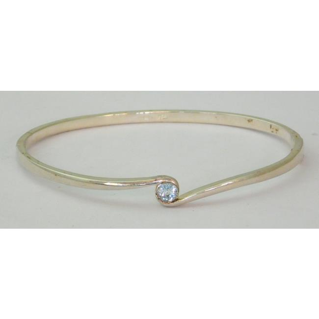 Sterling Silver & Cubic Zirconia Bangle