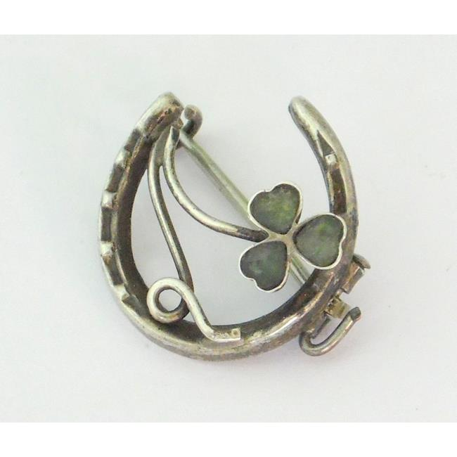 Sterling Silver Lucky Horseshoe Brooch