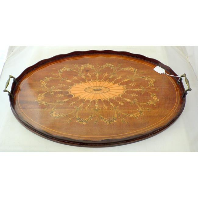 Fine Edwardian Marquetry Serving Tray. Early 1900s