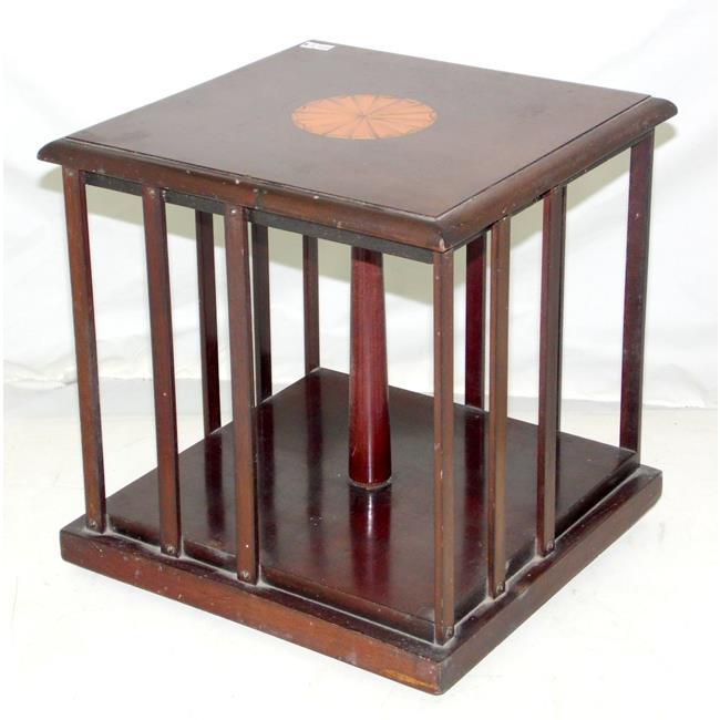 Antique Edwardian Table Top Revolving Bookcase
