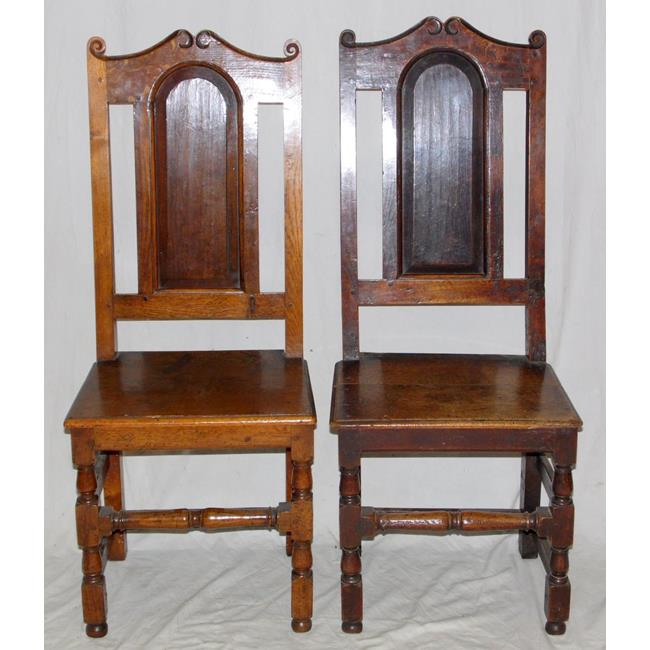 A pair of 17th Century Oak Side Chairs