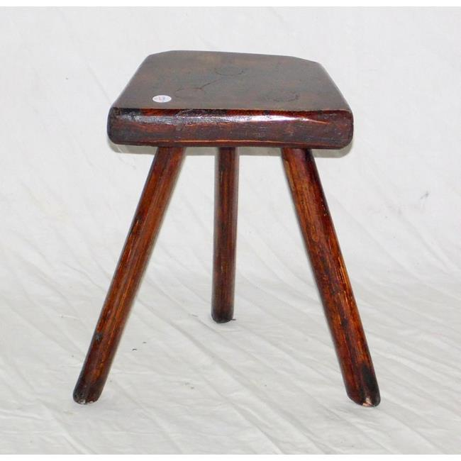 A Rare Elm and Ash Milking Stool.19th Century.