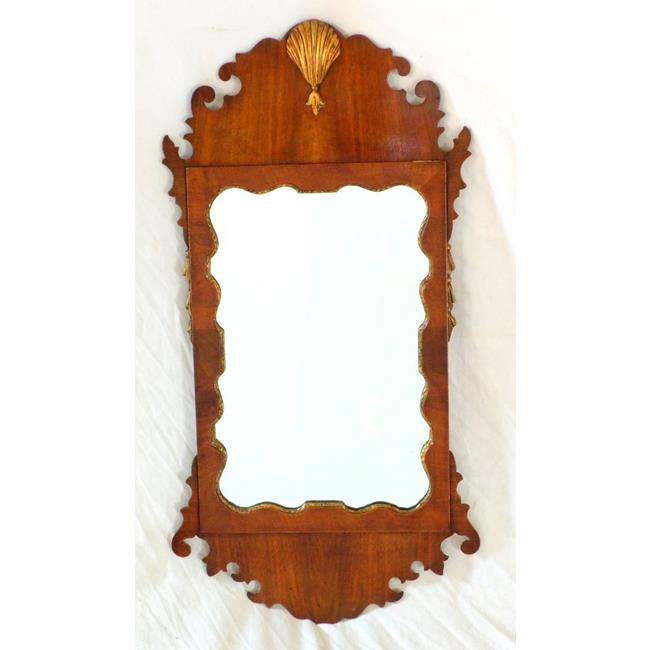 Georgian Mahogany Wall Mirror. 19th Century.