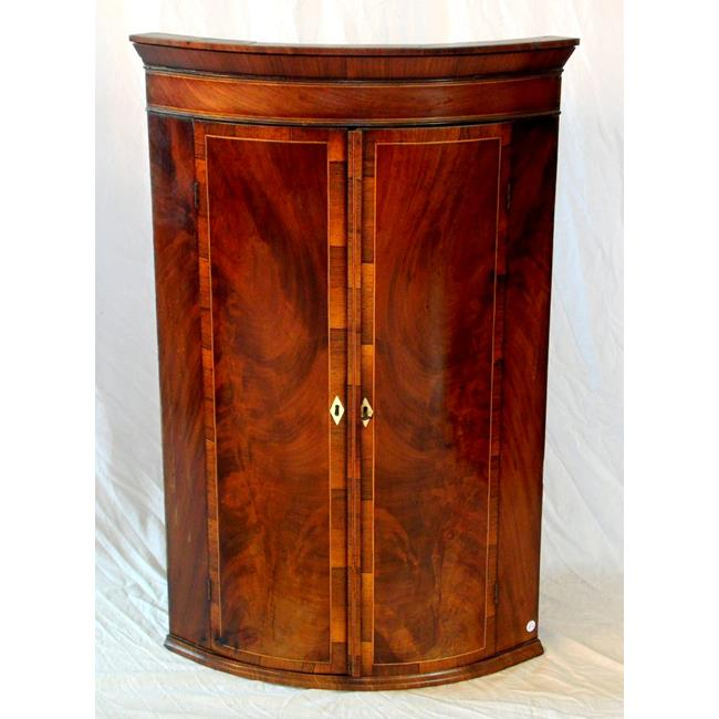 Victorian Mahogany & Rosewood Corner Cupboard