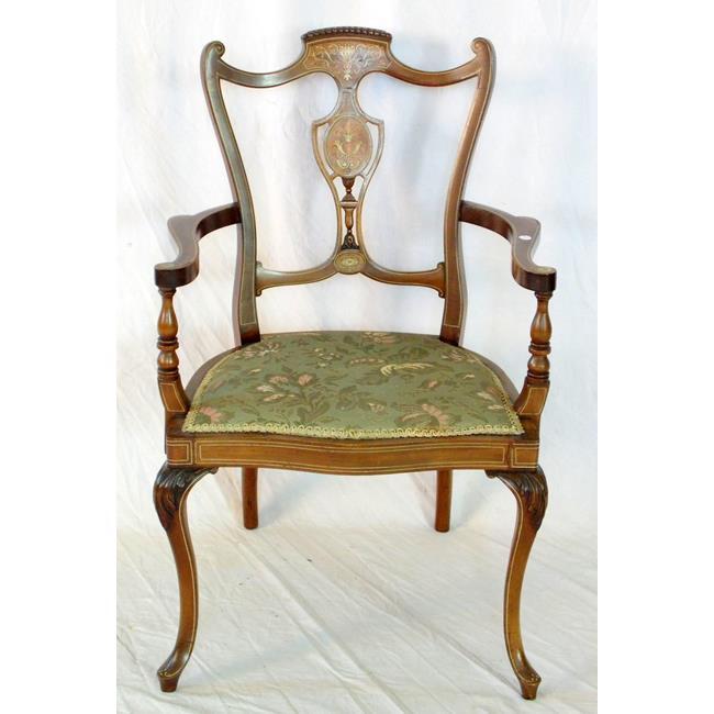 Choice Edwardian Inlaid Elbow Chair