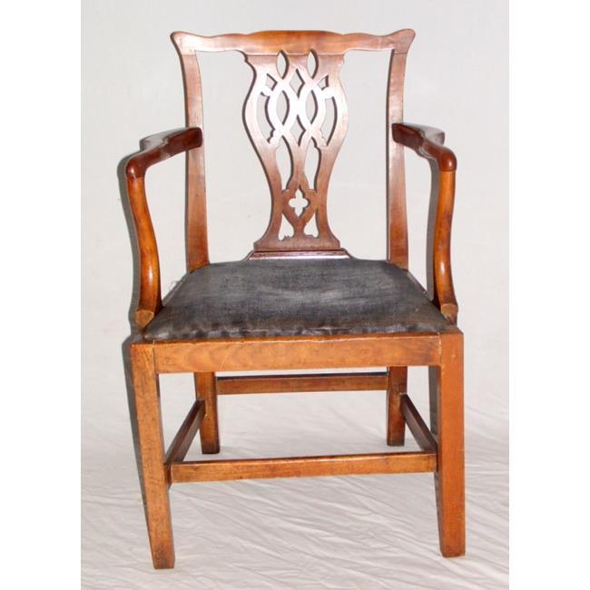 Georgian Mahogany Hepplewhite Style Elbow Chair