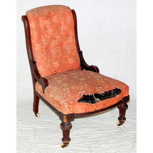 Victorian Mahogany Nursing Chair 19thc