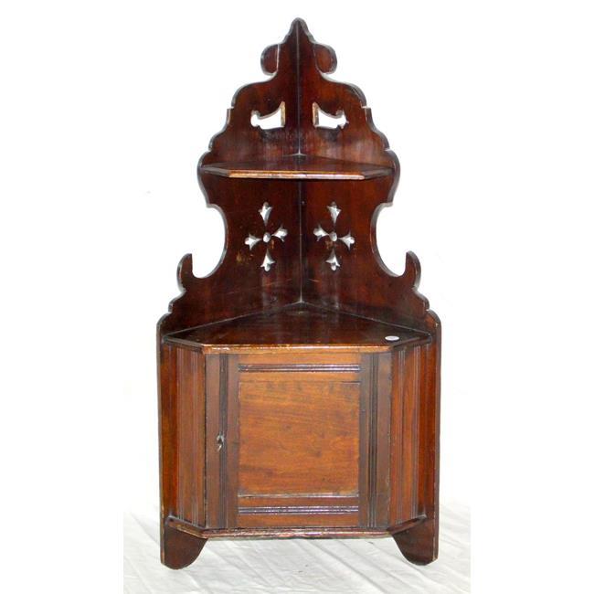 Victorian Simulated Mahogany Corner Cupboard
