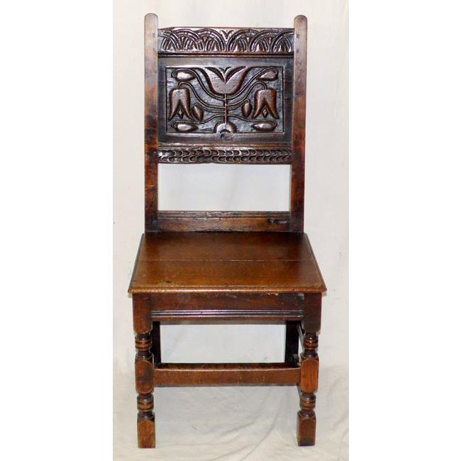 A  Good Yorkshire 17th Century Oak Side Chair.