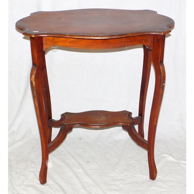 Antique Mahogany Serpentine Side Table.