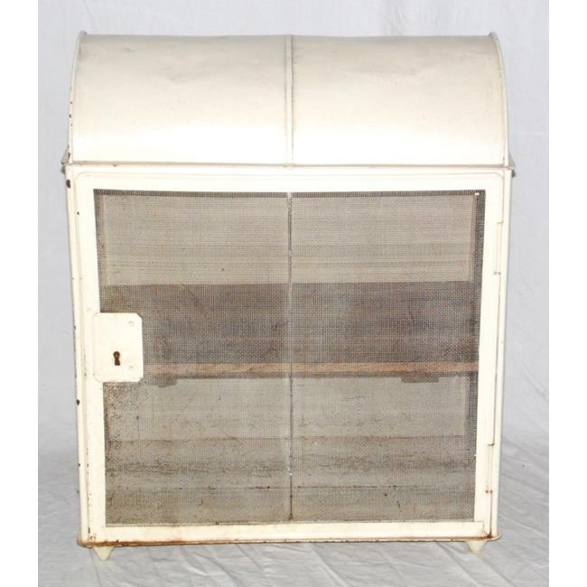Vintage Metal Domed Top Food Hutch Safe.