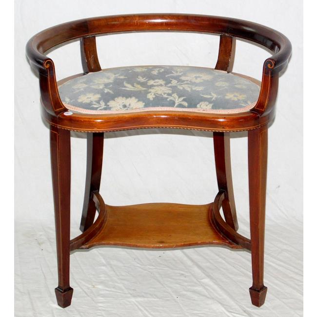 Fine Edwardian Kidney Shaped Dressing Stool