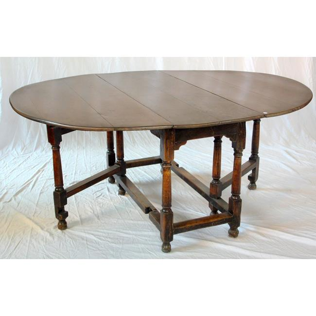 18th Century and Later Oval Oak Gate Leg Table