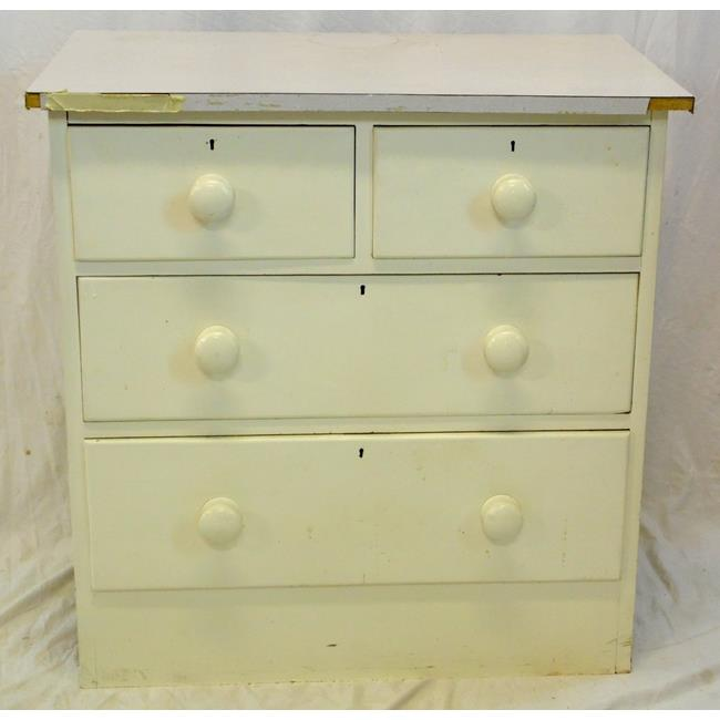 Victorian Painted Pine Chest of Drawers.