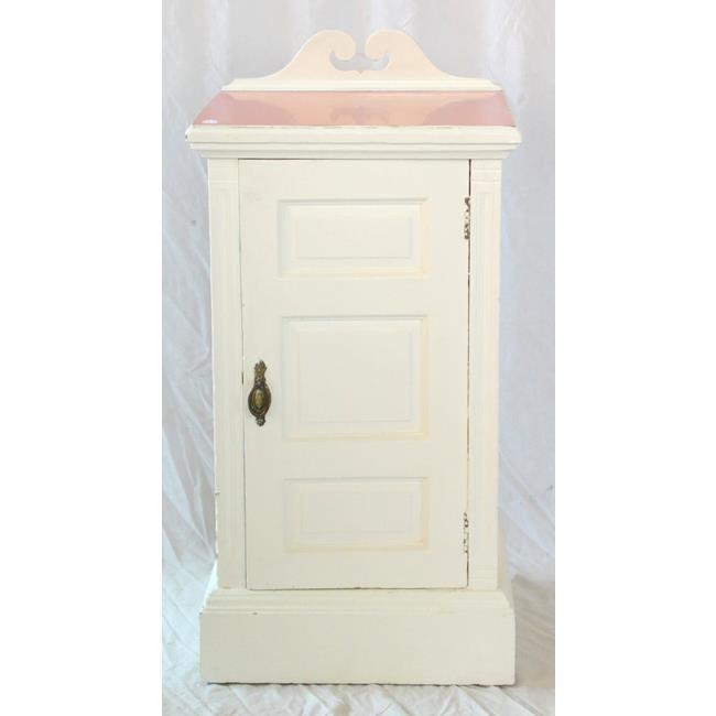 A Victorian Painted Pedestal Pot Cupboard. 19thc
