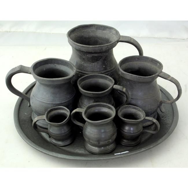 Victorian Pewter Measures.19th Century