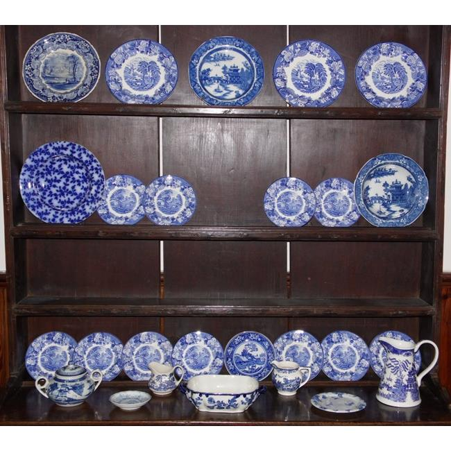 Collection of Antique/Vintage Blue & White China