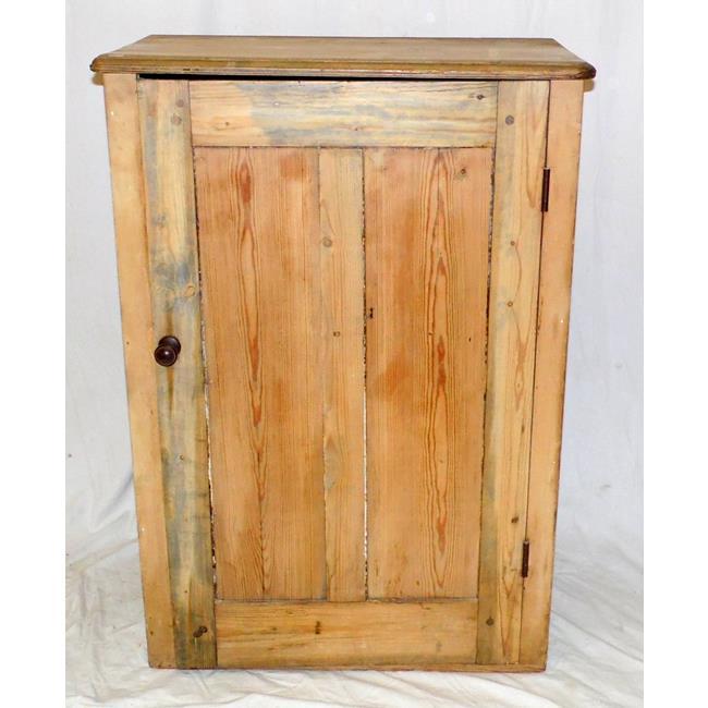 Antique Victorian Pine Side Cabinet. 19thc.