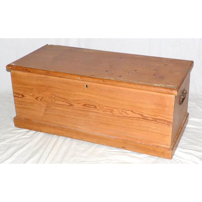Antique Large Pine Box with Candle Box