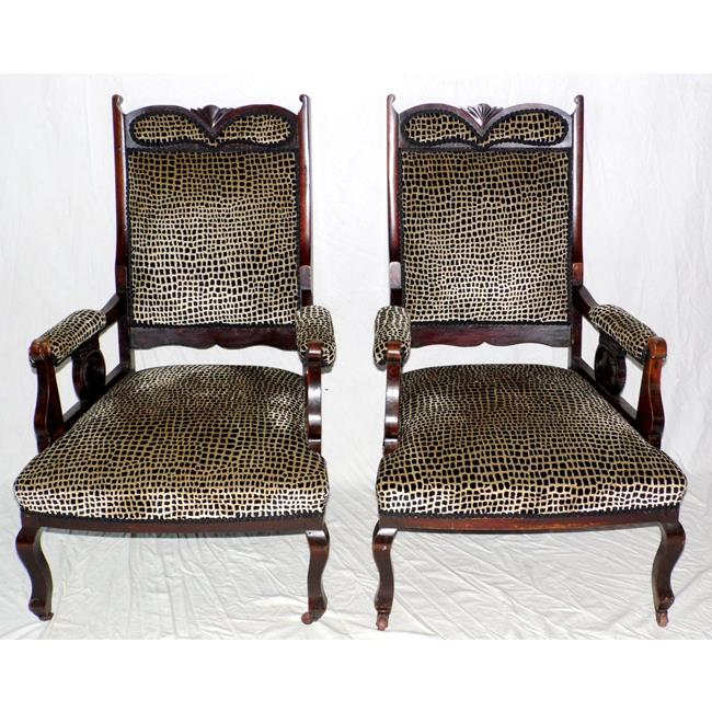 Antique Edwardian Pair of Armchairs. 1900's