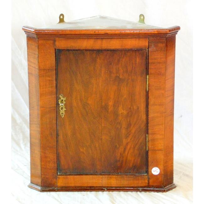 Antique Walnut Hanging Corner Cupboard.