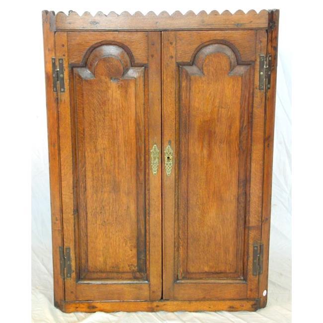 Georgian Oak Corner Cupboard .18th.Century.