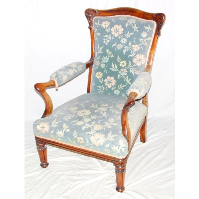 A Fine William IV Rosewood Elbow Chair. Early 19th.Century.