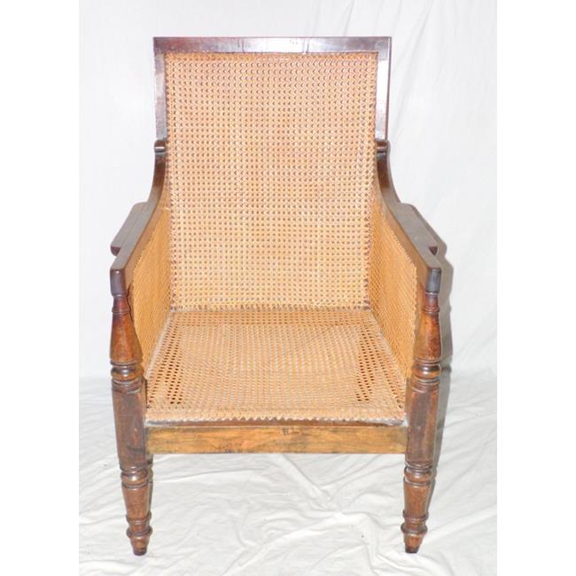 William IV Mahogany Bergere Elbow Chair Early 19th.Century.