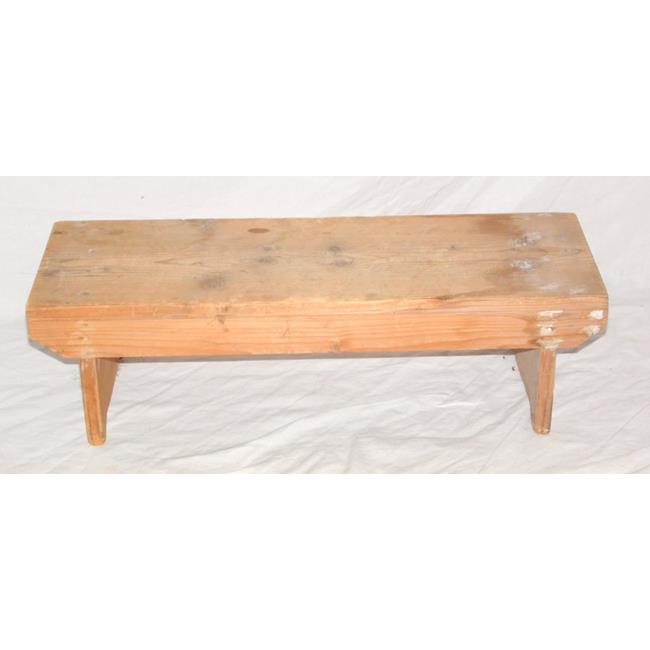 Antique Pine Stool. Early 1900's.