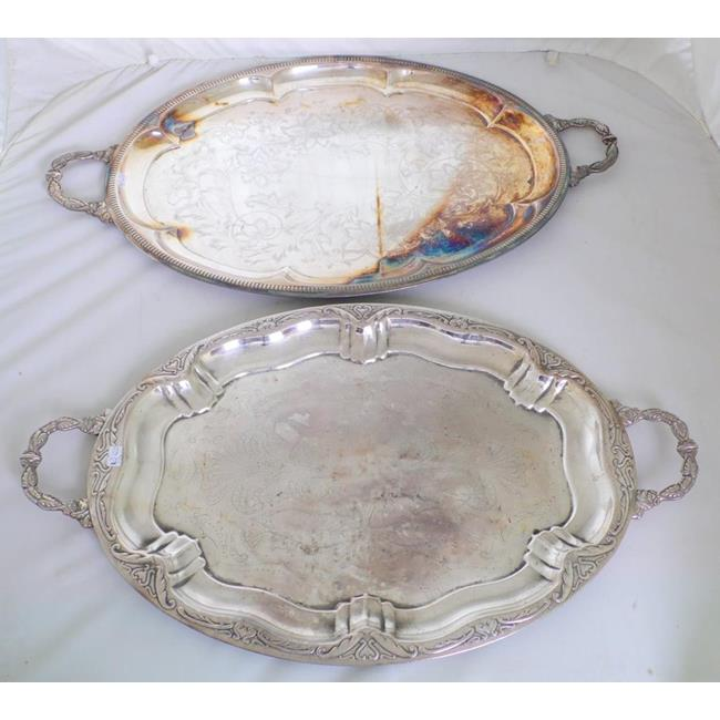2 Vintage Silver Plated EPNS Serving Trays
